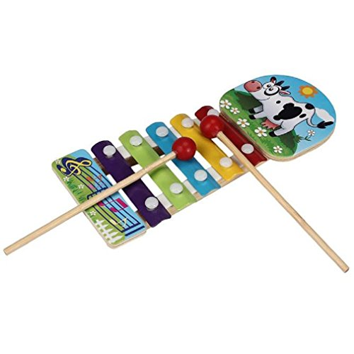 Musical Toys CocoMarket Baby Kid Musical Toys Xylophone Wisdom Development Wooden Instrument