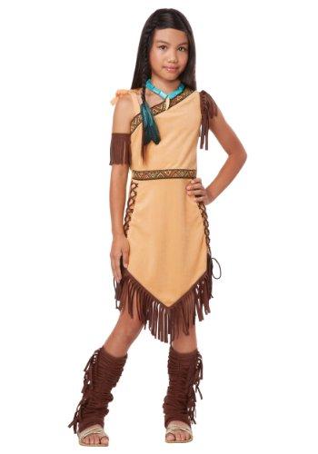 California Costumes Native American Princess Child Costume Brown Medium