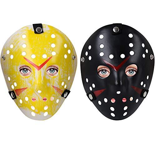2pcs Cosplay Halloween Costume Mask Prop Horror Hockey Masquerade Mask
