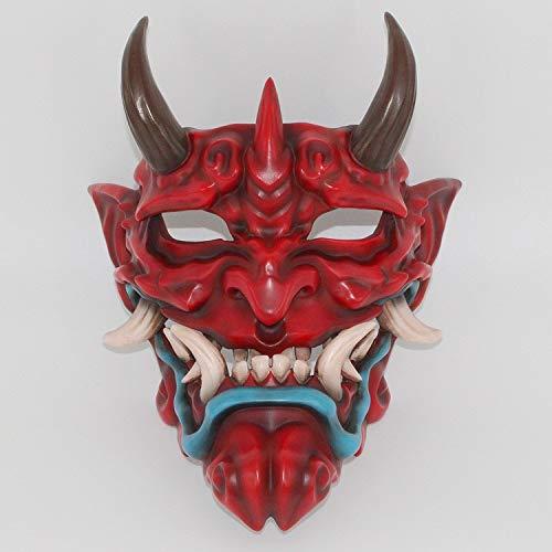 Cinhent Mask Japanese Prajna Mask Cosplay Halloween Costume Props Halloween Mask Clothing Collection Wall Hanging Mask