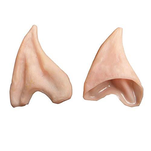 HOMEYA Elf Ears Cosplay Halloween Costumes Soft Pointed Prosthetic Ear Tips - 1 Pair