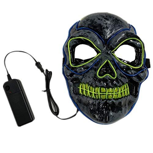 Halloween Mask LED Light Up Mask for Festival Cosplay Halloween Costume Black