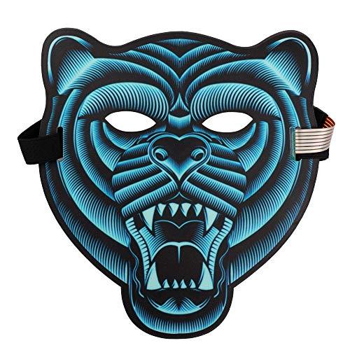 Halloween Mask Sound Activated Masks LED Light Mask Christmas Mask for Festival Cosplay Halloween CostumeO