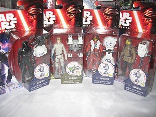 Star Wars Action Figure GIFT SET BUNDLE  First Order Tie Fighter Pilot Luke Skywalker Poe Dameron Resistance Trooper