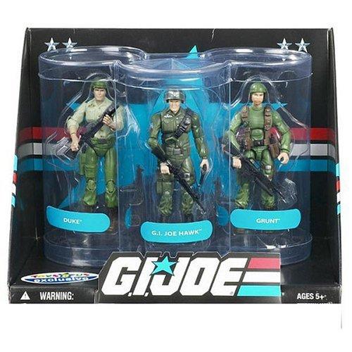 GI Joe Exclusive Senior Ranking Officers Action Figure 3-Pack Duke GI Joe Hawk Grunt