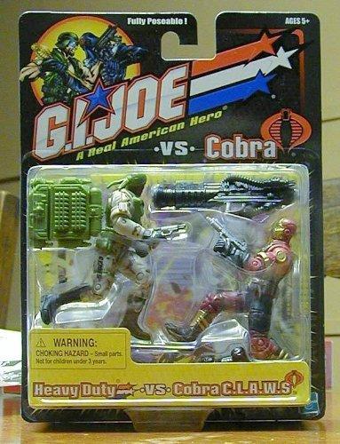 GI JOE vs COBRA Heavy Duty GreyGreen Uniform vs Cobra CLAWS Claws MaroonTan Uniform Action Figure Set