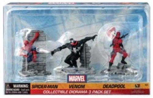 Marvel Collectible Diorama Spiderman - Venom - Deadpool Action Figure Set Pack of 3
