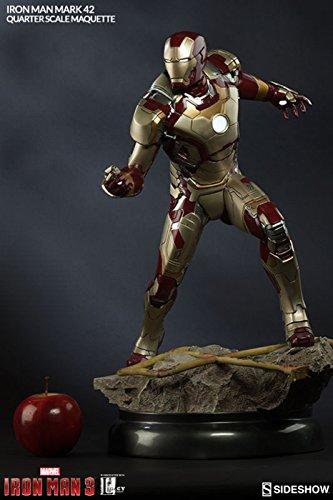 Sideshow Marvel Collectibles Iron Man 3 Iron Man Mark 42 XLII 14 Quarter Scale Marquette Statue