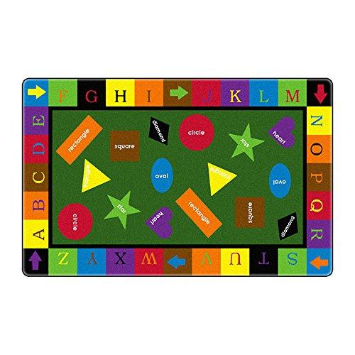 Flagship Carpet Children Learning Floor Playmat Nylon Simple Shapes - 76 x 12