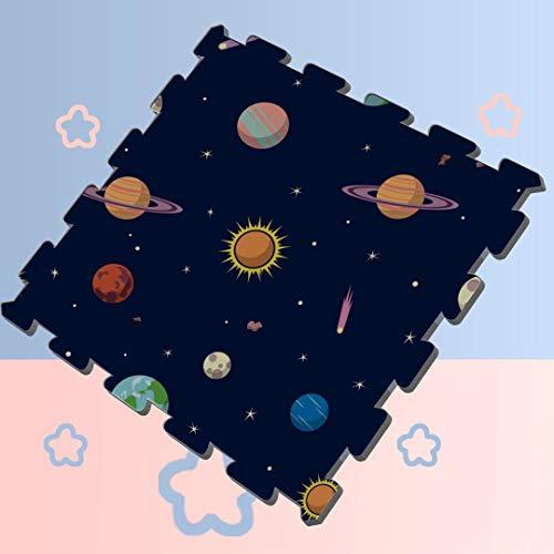 Cartoon Space Shiny Solar System Planet Puzzle Mat for Exercise Equipment Puzzle Mat for Exercise Equipment 8 Pieces 60 X 60 X 12cm Foam Puzzle Tiles
