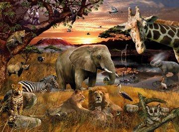 Ravensburger Animal Planet Safari Friends - 100 Pieces Puzzle in A Picnic Tin
