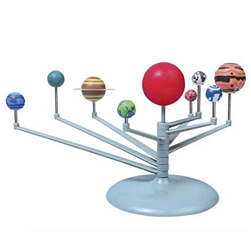 Underleaf Nine Planets Puzzle Assembling Solar System Planetarium Model Childrens Science DIY Toy Set