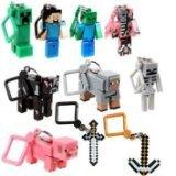 JNX Minecraft Toy Action Figure Hanger Set Kingfansion 3-Inch 10-Piece Series 1