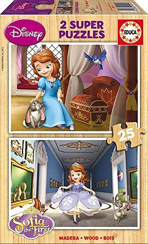 Educa - Super Puzzle Princesse Sofia - 2 x 25 pièces en bois