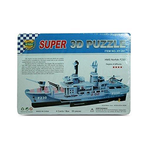 Kids 3D Super Puzzle HMS Norfolk F230 Educational and Fun MQ010