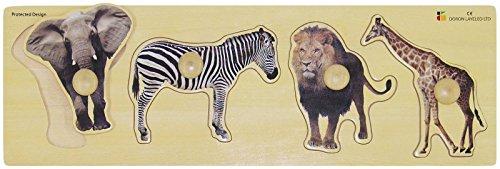 Edushape Giant Wild Animals Puzzle 4 Piece