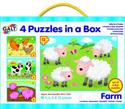 Galt Toys Inc Farm in a Box Puzzle 4-Piece