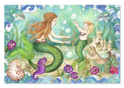 Melissa Doug Mermaid Playground Jumbo Jigsaw Floor Puzzle 48 pcs 2 x 3 feet