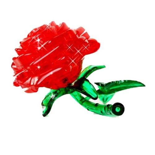 Original 3D Crystal Puzzle - Rose Red