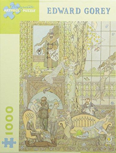 Edward Gorey - Frawgge Mftg Co 1000 Piece Puzzle Pomegranate Artpiece Puzzle