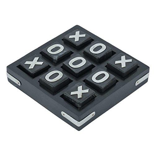 Craft Art India Wooden Black Tic Tac Toe Puzzle Indoor  Outdoor Game
