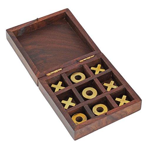 Craft Art India Wooden Tic Tac Toe Puzzle Indoor  Outdoor Game in Box