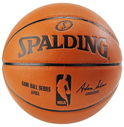 Spalding NBA Replica IndoorOutdoor Game Ball Orange Size 7295-Inch