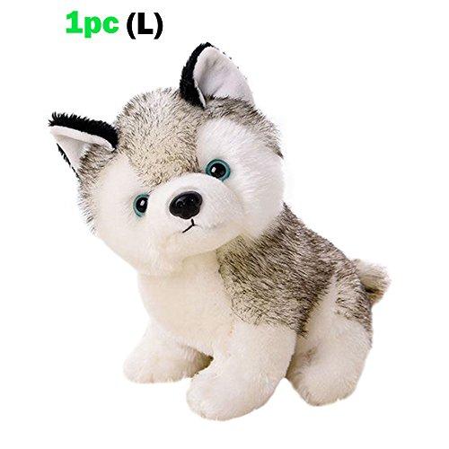 Husky Dog Baby Kids Plush ToysWhite and Gray3 Size Stuffed Animal Plush