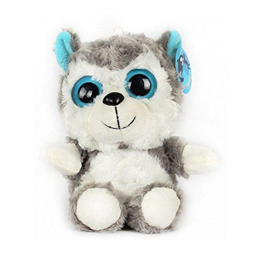 Kawaii Plush Doll Toy Animal Husky With Charming Big Eyes Cute Dog MED Size Stuffed Pets Sitting Toys