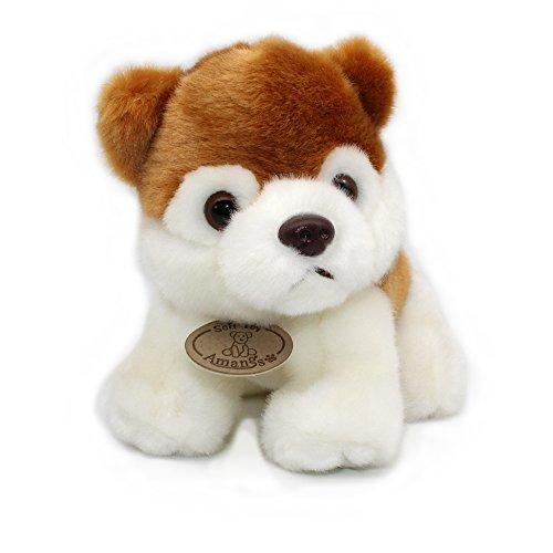 Siberian Husky Plush Puppies Stuffed Animals Dogs Soft Toy brown 9
