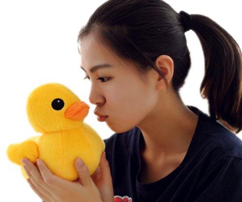 20cm8 Giant Yellow Duck Stuffed Animal Plush Soft Toys Cute Doll One Piece