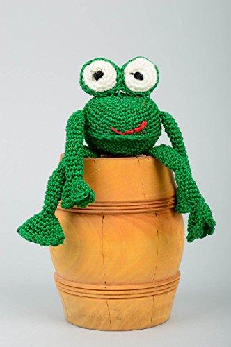 Handmade Designer Toy Children Soft Toy Beautiful Toy Frog Present for Kids