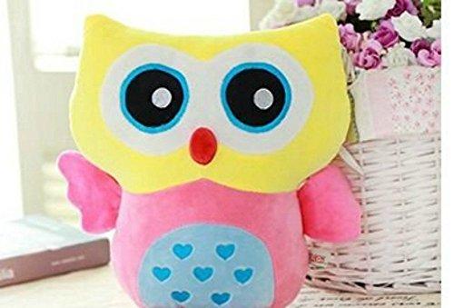 MJATOP Lovely Owl Plush Pillows Baby Kids Soft Toys Nursery Room Kids Room Decoration pillows Yellow