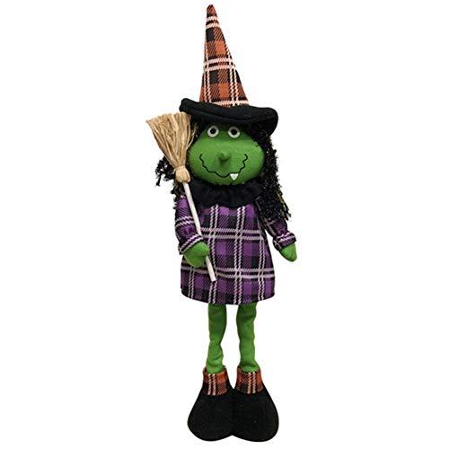 Restarty Plush Stuffed Animal Pumpkin Dolls Halloween Adjustable Kids Soft Toy Ornament for Home Bedroom