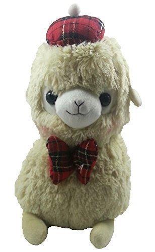 Japanese Amuse Cute Baby Alpacasso 13 Cream Alpaca Llama Soft Animal Stuffed Sitting Plush Toy
