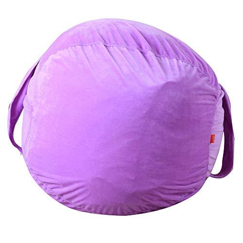 CapsA Animal Storage Bean Bag Large Beanbag Chairs for Kids Stuffed Plush Toy Storage Bean Bag Soft Pouch Stripe Fabric Chair
