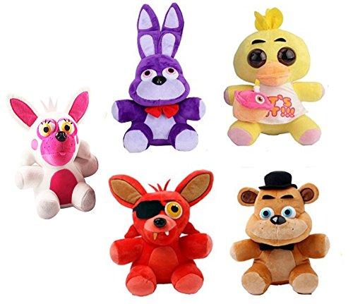 5 5pcsset Five Nights at Freddys Plush Stuffed Soft Toys Dolls