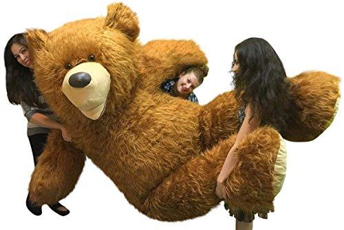 BigPlush 9 feet Soft Long Fur Giant Teddy Bear - Honey Brown