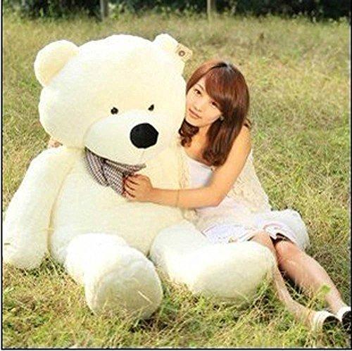 Giant Teddy Bear Stuffed Animals Sleeping pillow Teddy White 12M  47inch Teddy Bear For Girlfriend