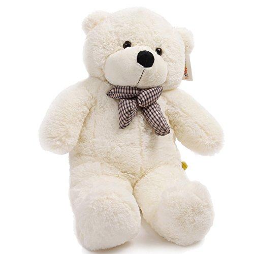 YUNNASI 47cuddly Huge Plush Stuffed Giant Teddy Bear Toy Doll120cm White