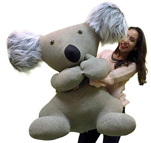 American Made Giant Stuffed Koala Huge Big More Than 3 Feet Tall and Very Wide Huge Soft Plush Animal Made in the USA America