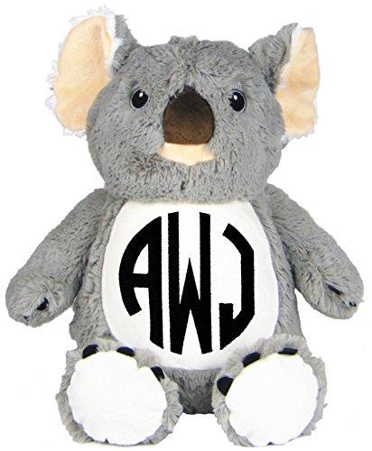 Personalized Stuffed Koala with Embroidered Circle Monogram