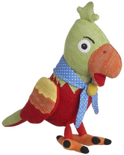 Monkeez Rico Knit Parrot Plush Small