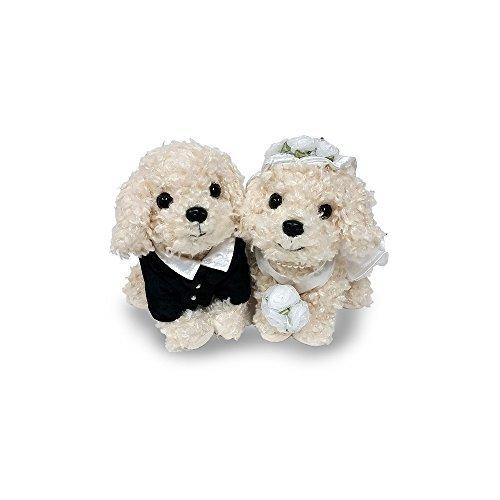 Premium Puppy Wedding doll stuffed toy poodle White