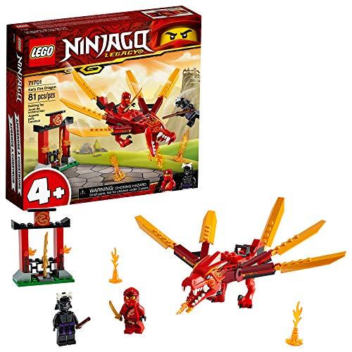 LEGO NINJAGO Legacy Kais Fire Dragon 71701 Dragon Toy Figure Building Kit New 2020 81 Pieces