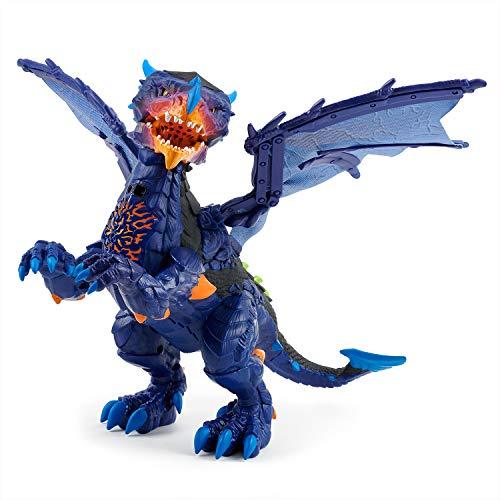 WowWee Untamed Legends Dragon - Vulcan Dark Blue - Interactive Toy