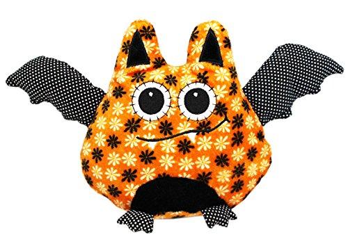 Bellapops Bat OrangeBlack Halloween Plush Toy - By Ganz 6in