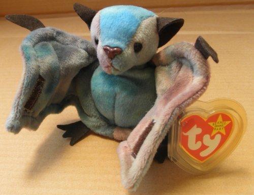 TY Beanie Babies Batty the Bat Plush Toy Stuffed Animal - BrownBlue