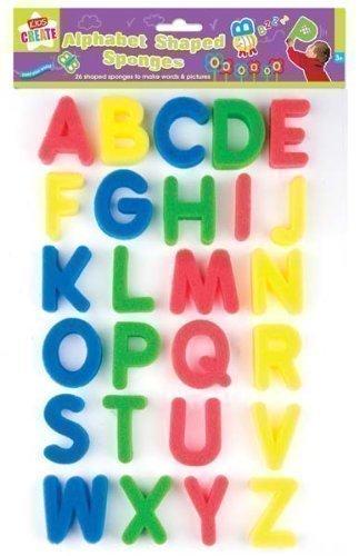 Kids Childrens Art Craft Alphabet Letter Shapes Paint Sponges