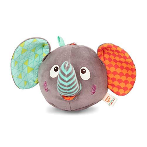 B toys - Elephantabulous - Interactive Plush Peek-a-Boo Elephant with Sounds - Newborn Baby Toys